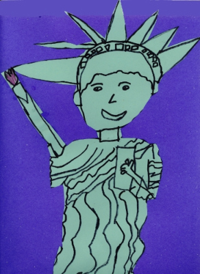 The Statue of Liberty, drawn by Alex McEachern (7)