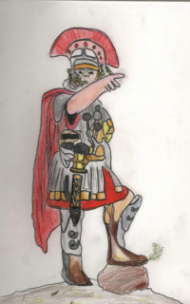 Roman Centurian, by Elliot Gallacher (age 12) from Bristol