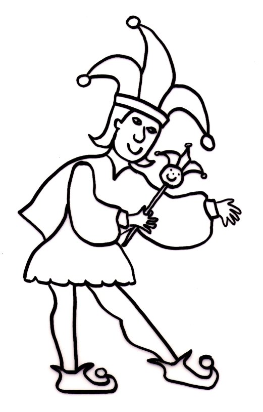 jester coloring pages - photo#1