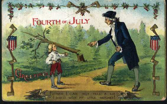 Image result for Images Of George Washington Chopping down the cherry tree