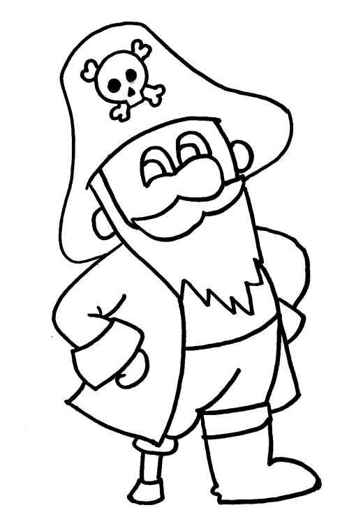 pirate coloring pages cartoon - photo#16