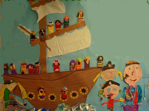 Pirates by Miss Warmington's class, Tirlebrook School, Tewkesbury