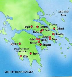 Ancient Greece Map With Cities.Ancient Greece For Kids Fun And Educational Poems